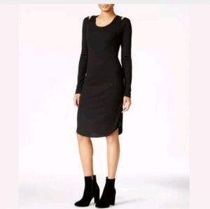 Rachel Roy Woman's Ribbed Cold Shoulder Dress